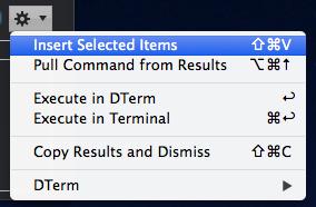 Opciones de ejecución de DTerm